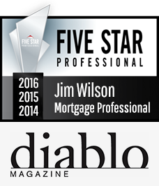 Diablo Magazine 2016, 2015 & 2014 Five Star Mortgage Professional Award